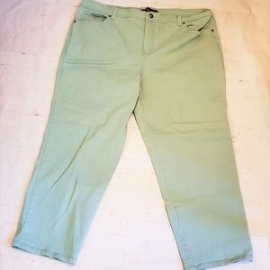 GLORIA VANDERBILT LIGHT MINT JEANS PLUS 22W